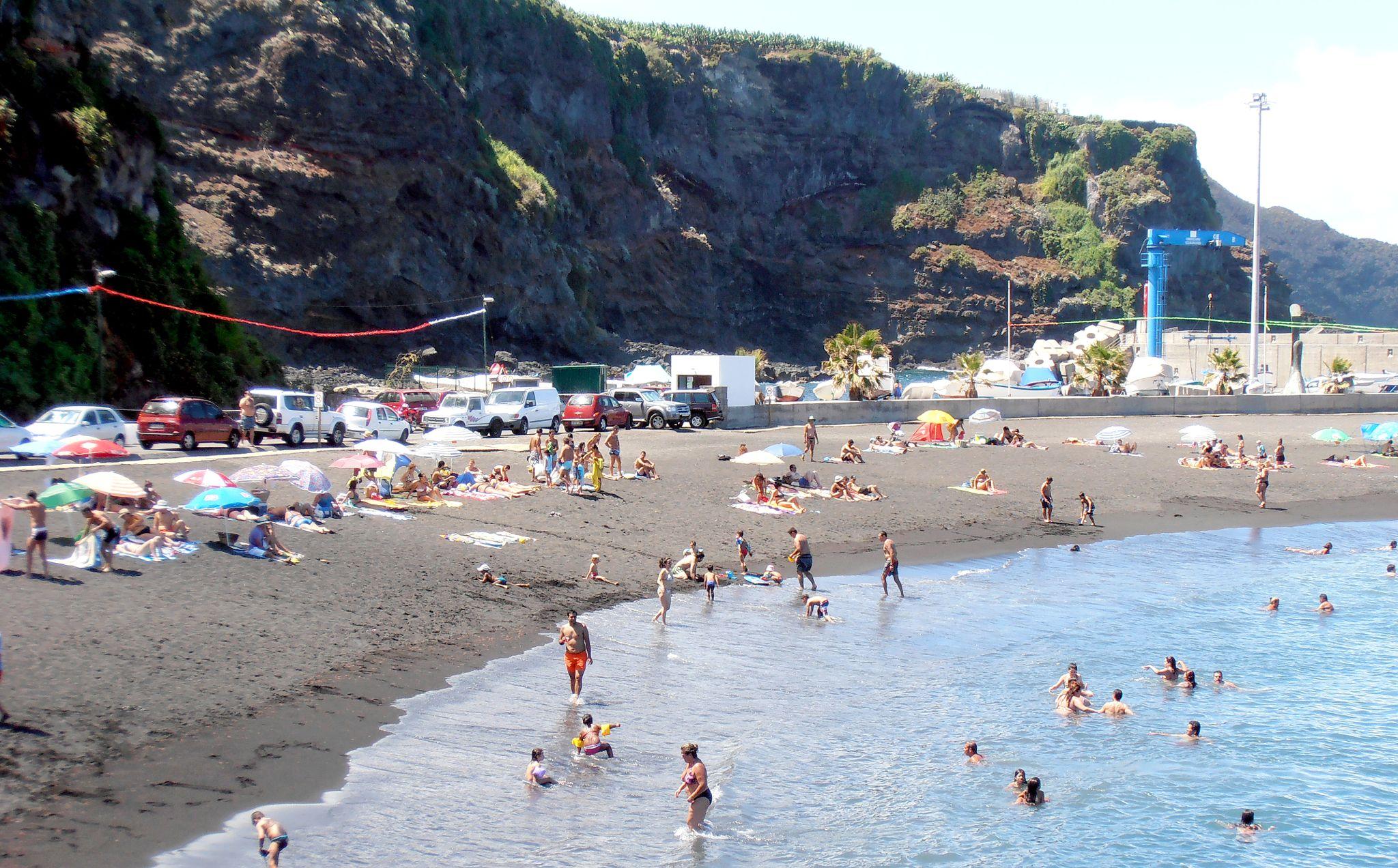 Playa Puerto Espíndola · Apartamentos Míriam · Charzo Azul · La Palma · Islas Canarias
